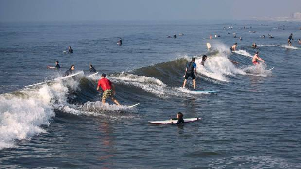 The more surfers there are for every wave the higher the tension becomes.