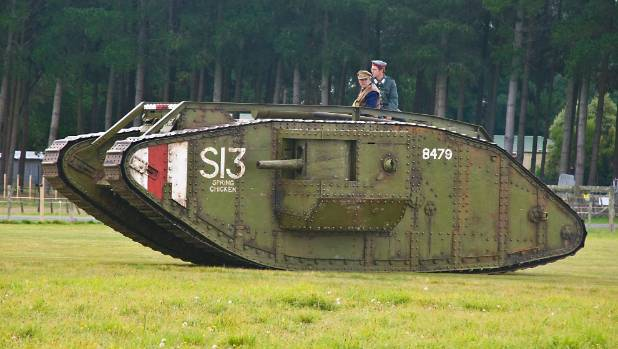 A giant WWI tank, a replica made by Sir Peter Jackson, is coming to Cambridge for Armistice Day 2016.