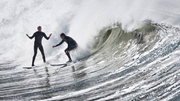 Bad surfing etiquette: always give way to the surfer closest to the peak of the wave.