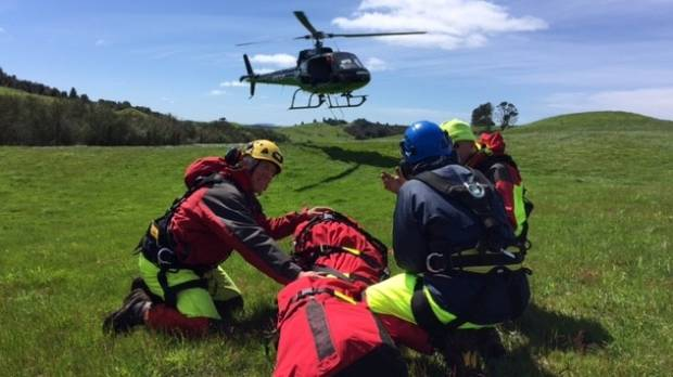 Taupo Landsar rescue a French hiker Louise Sisiaja who got lost in the Pureroa Forest on Tuesday.