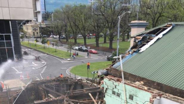 The Corkman Irish Pub is demolished.