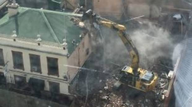 The Corkman Irish Pub in Carlton under demolition on Saturday.