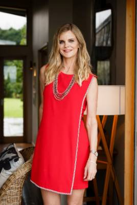JULIA'S BEST: You always look better when you're not trying too hard, and this simple red shift dress looks super chic ...