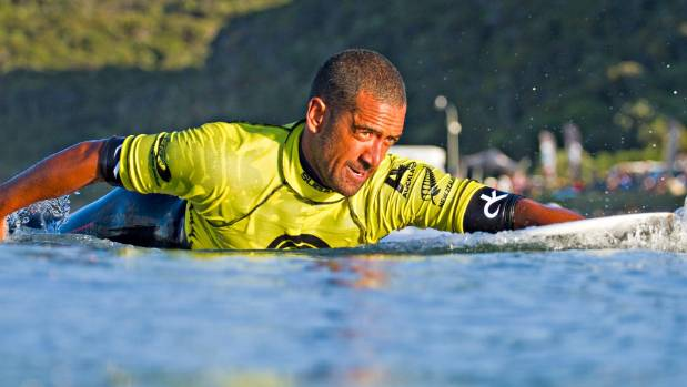 Pro surfer and Raglan resident Daniel Kereopa says there aren't many fights in the small surfing town.