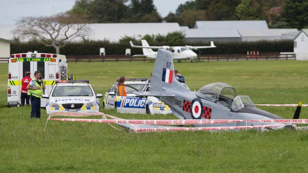 The aircraft which crashed at the Matamata airstrip, killing the pilot, was a warbird scale model.