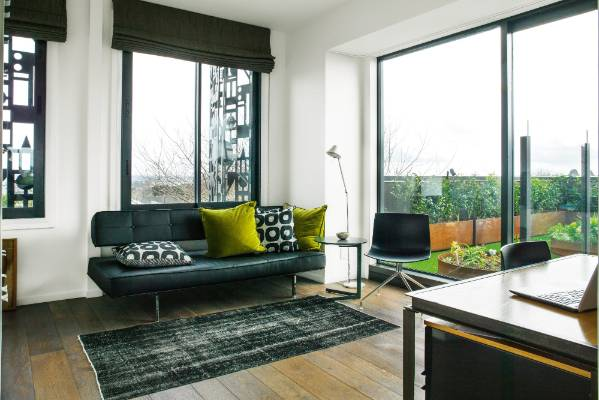 Guests can easily be accommodated on a fold-down sofa bed in the study, which has a lovely outlook to the west and ...