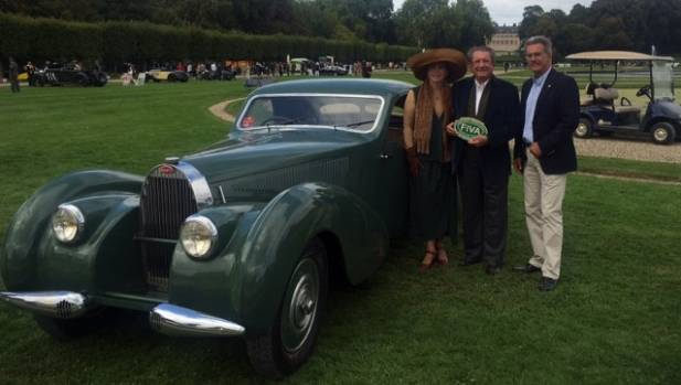 A 1939 Bugatti 57C Van Vooren Atalante.