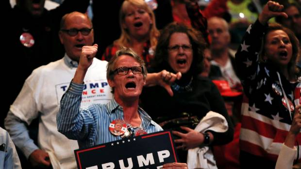 The shackles have been off among Trump supporters for a while.