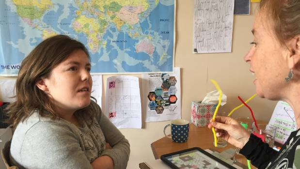 Eighteen-year-old Bridget Earnshaw is home-schooled. She is taught by speech language therapist and special needs ...