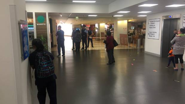 The scene of the stabbing at Auckland hospital on Tuesday afternoon.