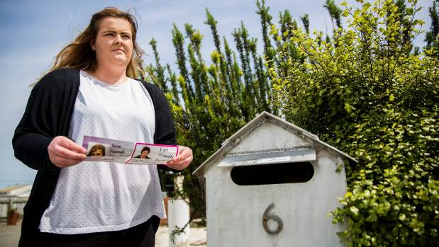 Hannah Street, 19, had her campaign flyers delivered back to her with an abusive message scrawled across it.