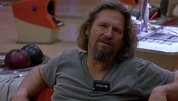 Jeff Bridges in one of his most memorable roles - The Big Lebowski's Dude.