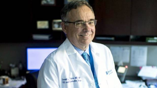 "Dr Donald ""Skip"" Trump is chief executive and executive director of Inova Schar Cancer Institute in Falls Church, Virginia."