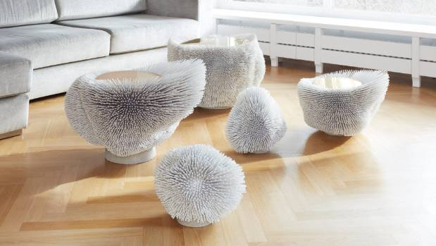 German designer Pia Maria Raeder has created a collection of furniture inspired by sea anemones.