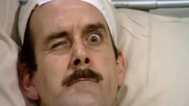 John Cleese as Basil Fawlty in Fawlty Towers 70 TV show.