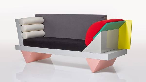 Peter Shire's Big Sur sofa, 1986, is one of many furniture pieces in the Memphis style from the Davie Bowie collection, ...