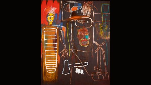 Jean-Michel Basquiat, Air Power, 1984. David Bowie played the role of Andy Warhol, mentor of the young artist, in the ...