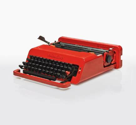 Ettore Sottass and Perry King, Valentine portable typewriter, 1969. $500 - $850