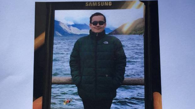 Police are handing out flyers for missing Australian tourist Robert Galdamez.