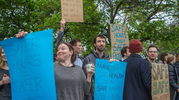 Junior doctors strike at Christchurch Hospital on Tuesday. DHBs are bracing for a second day without thousands of junior ...