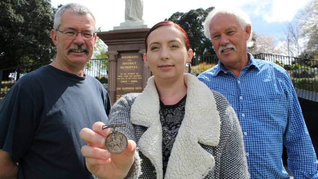 Mark Cummins, Sarah Scothern and Richard Howitt pieced together the mystery of the medal's journey.