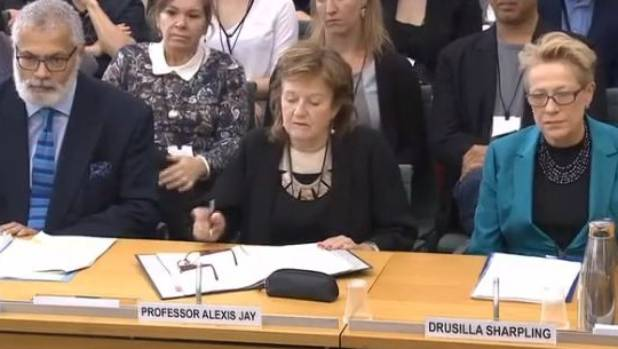 Independent Inquiry into Child Sex Abuse panel member Ivor Frank, new chair Professor Alexis Jay, and panellist Drusilla ...
