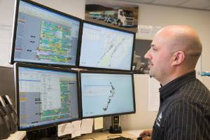 Fonterra planning and dispatch manager Malcolm Bailey and his team plot the route for every tanker in its fleet every day.