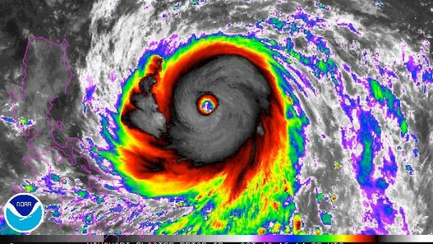 Typhoon Haima has been upgraded to a category 5, the strongest possible.