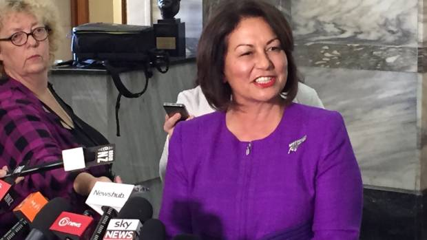 Education Minister Hekia Parata speaks to media after announcing she won't stand in the next election.