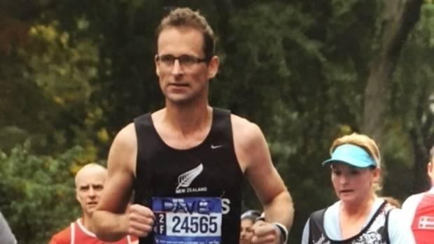 Daid Pretorius in the 2015 New York Marathon
