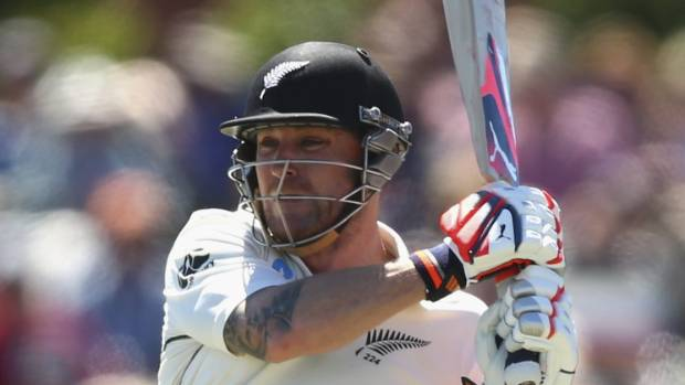 Brendon McCullum with the bat.