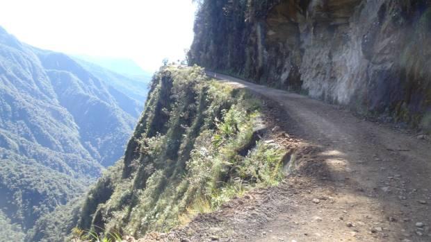 The Bolivian Death Road.