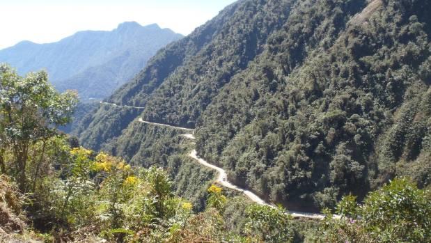 The Bolivian death road