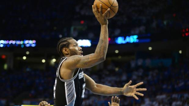 NBA hard man No 2: San Antonio Spurs forward Kawhi Leonard.