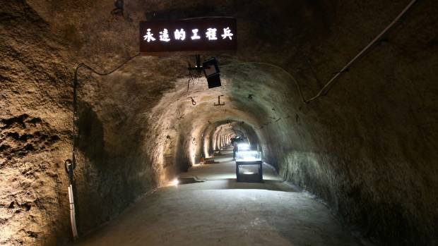 The hidden underground nuclear power plant in Chongqing was built in 1966.