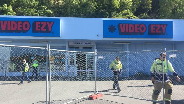 The man had been working at the former Video Ezy store in Napier.