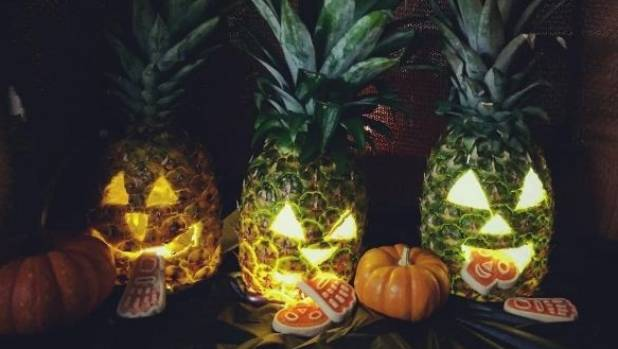 Try carving a scary pineapple for Halloween.