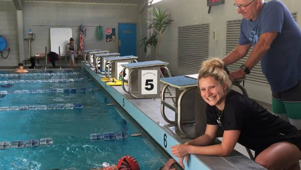 Wanaka-based Southland Institute of Technology bachelor of sport and exercise student Cassandra Harvey, 21, (centre) and ...