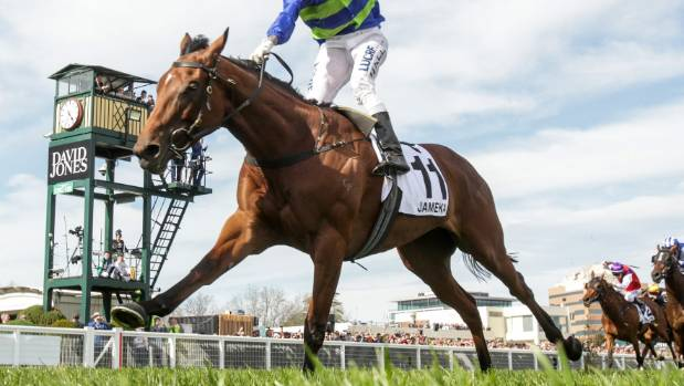After her big win in the Caulfield Cup, Jameka could carry 54kg in the Melbourne Cup.