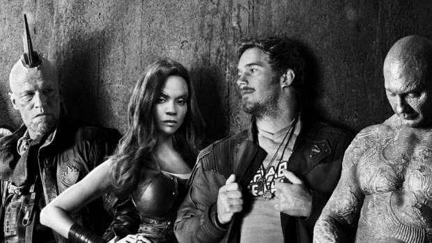 Guardians of the Galaxy Vol 2 teaser poster shows the gang looking like 70s Punk band.