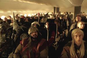 When you're off on an unexpected journey, there's bound to be a battle for the best seat in economy class.