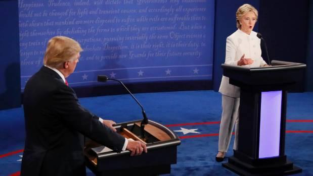 Donald Trump and Hillary Clinton meet in Las Vegas.