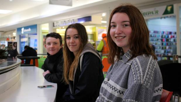 Onslow College students Oliver Curran, Thalia Garam-Walford and Rachel Murray want somewhere other than the Johnsonville ...