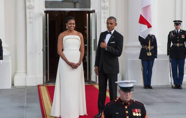 When Michelle and Barack hosted Singapore in August 2016, she wore Brandon Maxwell. I'm obsessed with this and suddenly ...