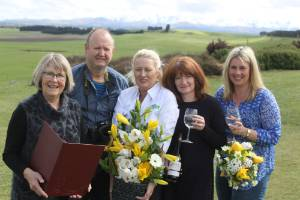 Wedding celebrant Val McSkimming, photographer Peter Andrews, florist Lynda Galt, Jan Rutherford of the Ancient Briton ...