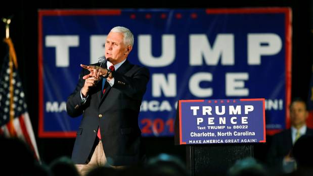 How has Mike Pence's track record gone largely unchallenged during this endless campaign?