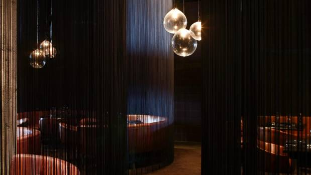 The dark interiors of Auckland restaurant Clooney, which will close in January.