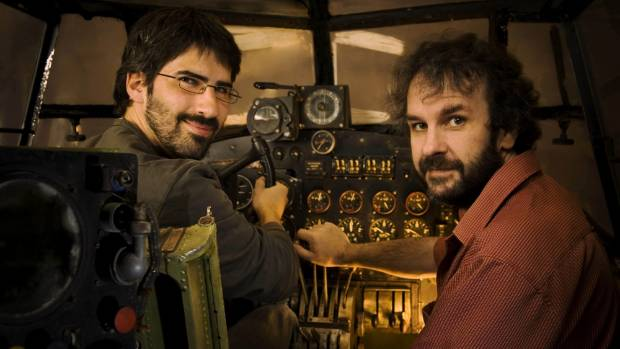 Producer Peter Jackson (right) and director Christian Rivers.