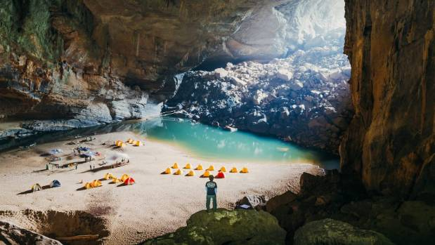 Exploring the spectacular Hang Son Doong river caves in Quang Binh province, Vietnam