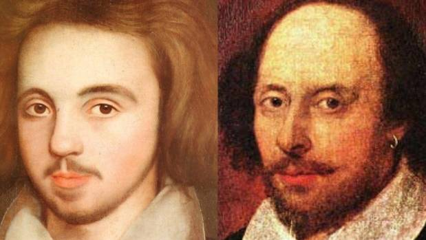 Christopher Marlowe and William Shakespeare - who turn out to be co-authors.